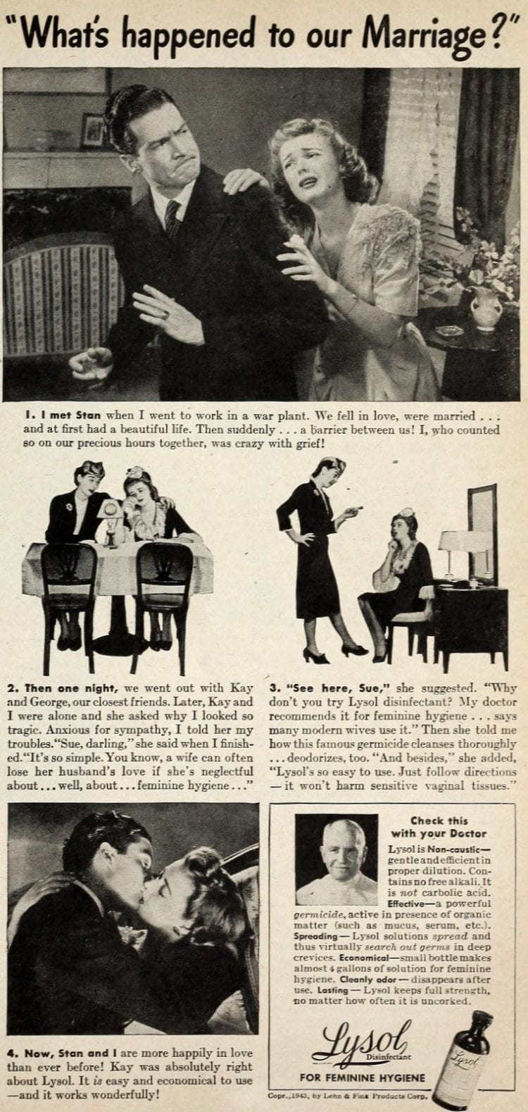 Vintage Lysol douche ads from the 1950s (3)