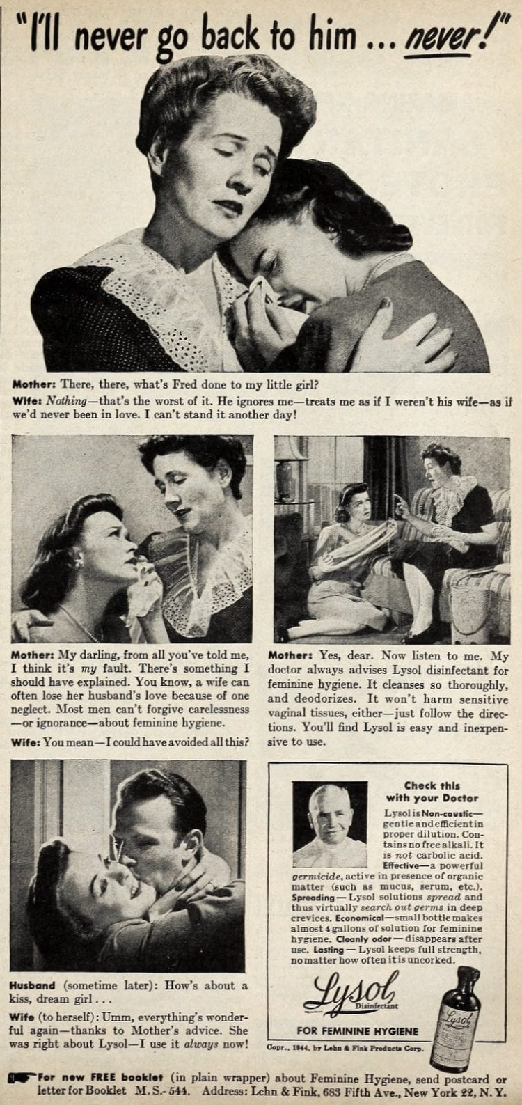 Vintage Lysol douche ads from the 1950s (4)