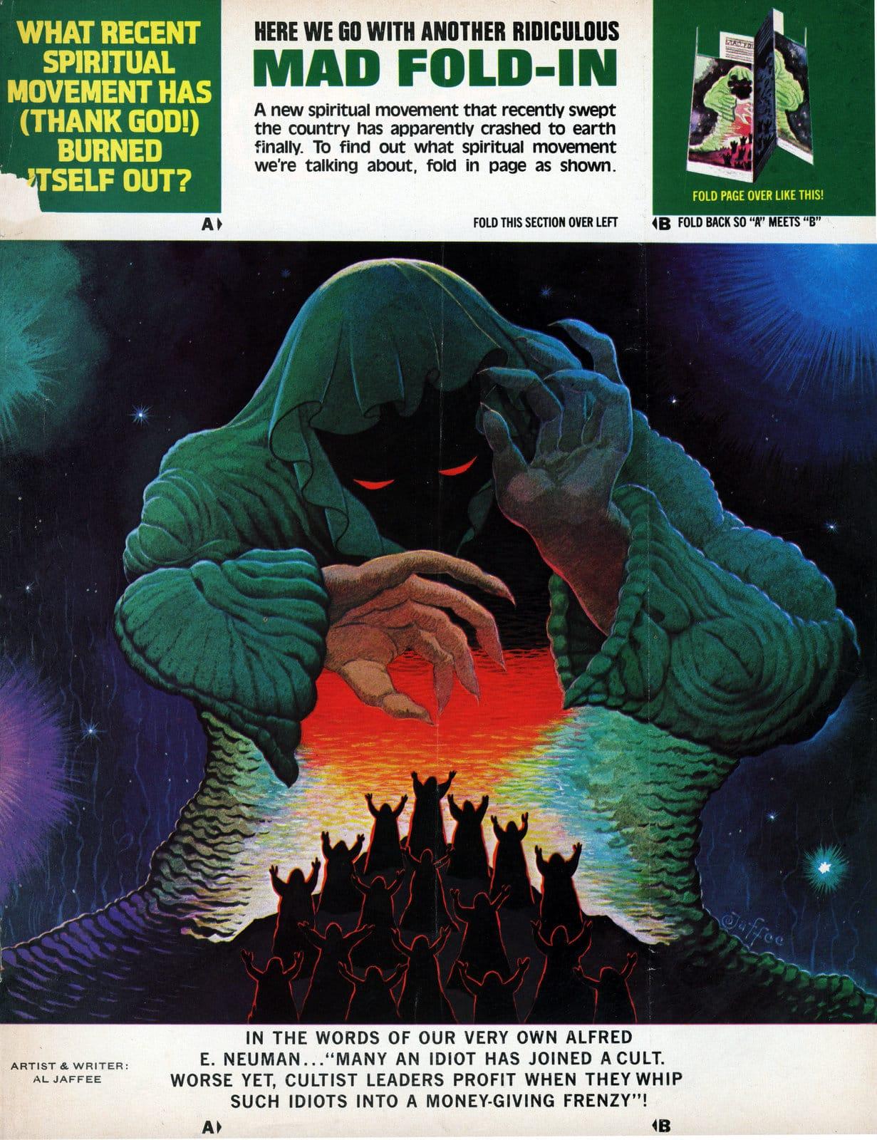 Vintage MAD magazine fold-in (April 1983) (2)