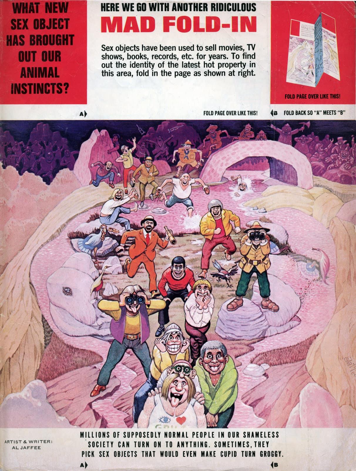 Vintage MAD magazine fold-in (December 1981) (2)