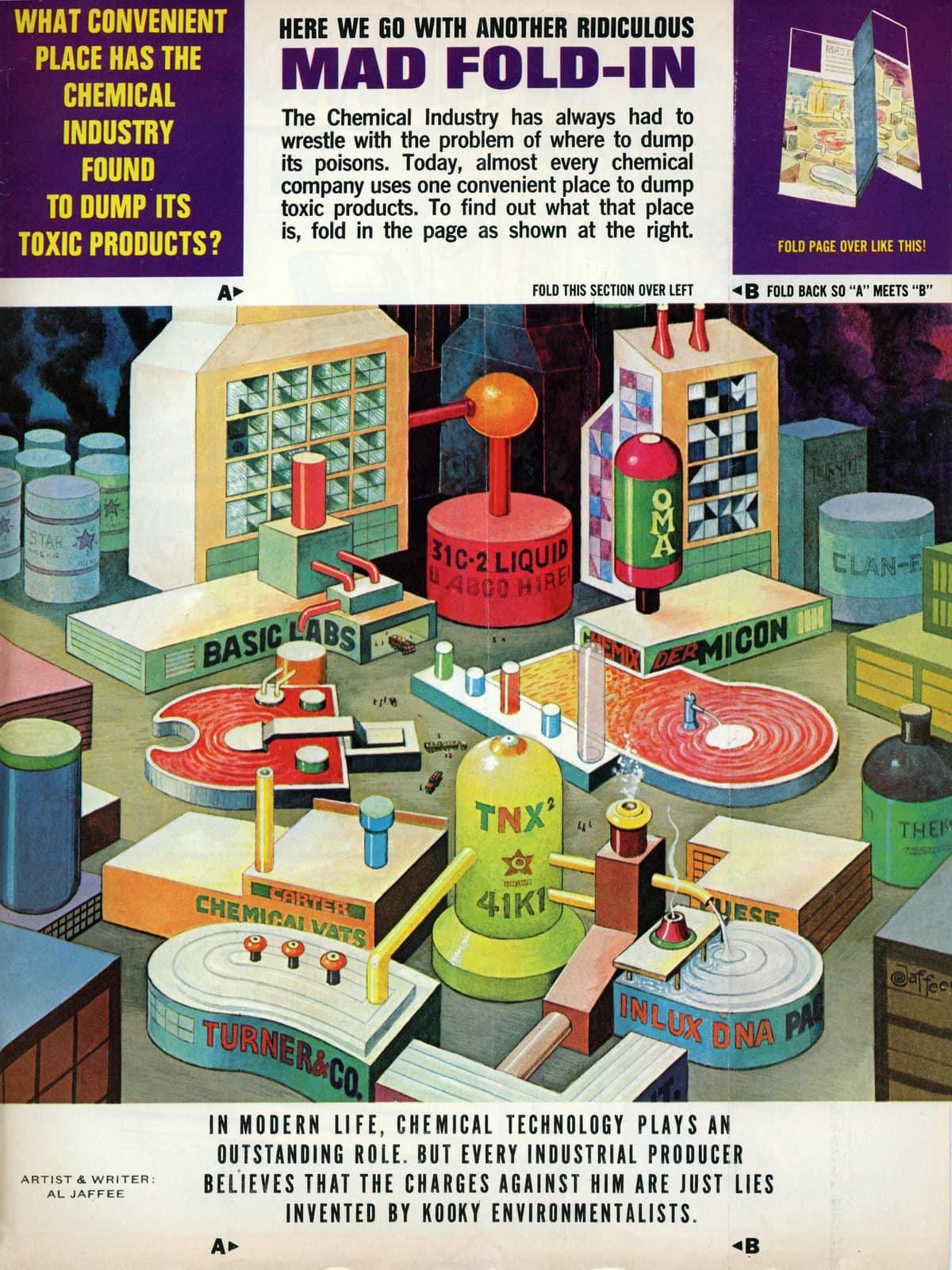 Vintage MAD magazine fold-in (October 1981) (2)