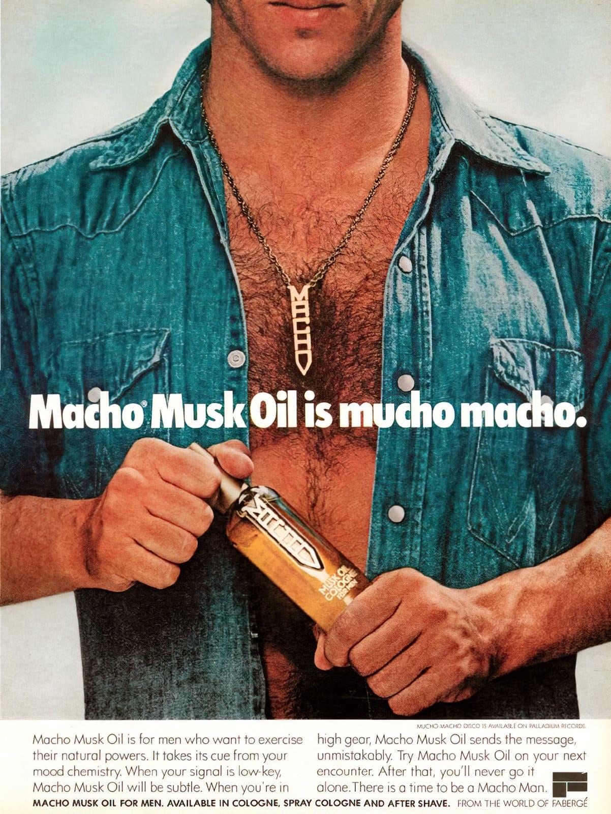Vintage Macho Musk Oil for men (1978)