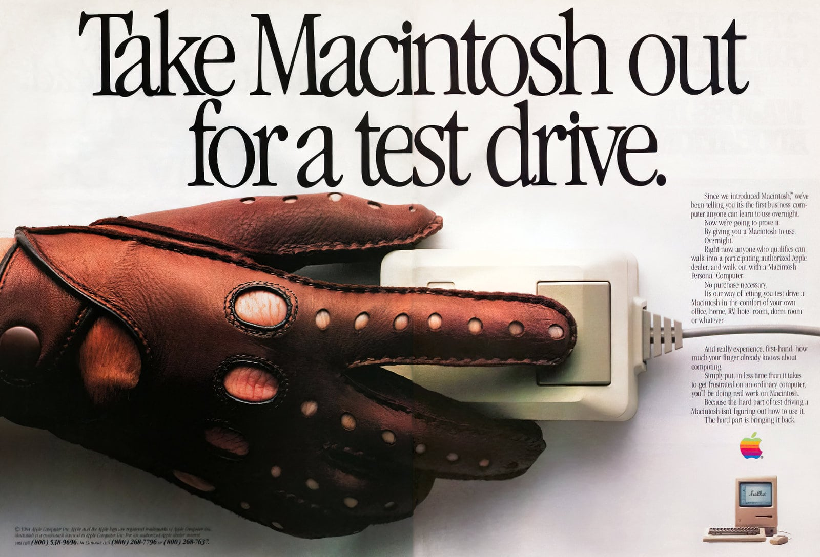 Vintage Macintosh computer - Test drive (1984)