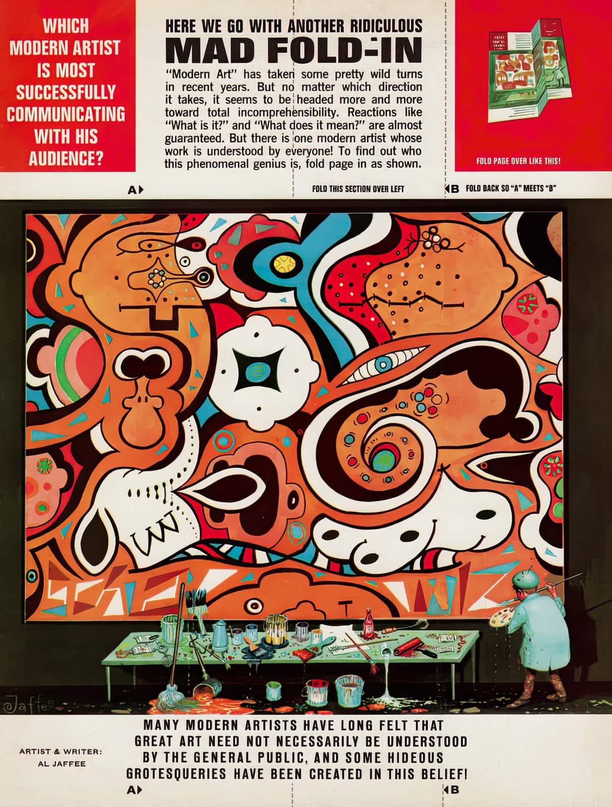 Vintage Mad Magazine fold-in - Modern artist