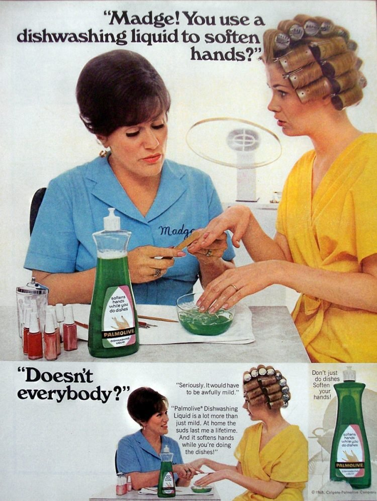 Vintage Madge the Manicurist for Palmolive - 1969 - Soften hands