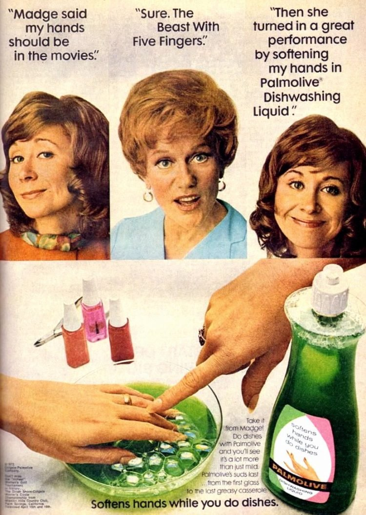 Vintage Madge the Manicurist for Palmolive - 1972 - Beast with 5 fingers