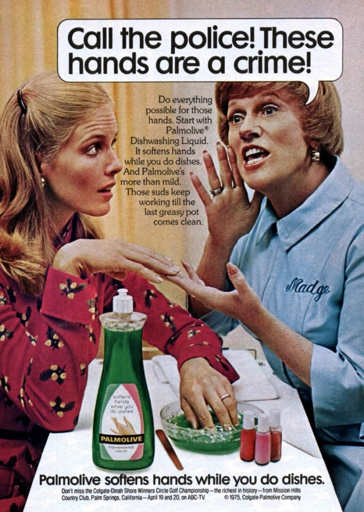 Vintage Madge the Manicurist for Palmolive - 1972 - Call the police