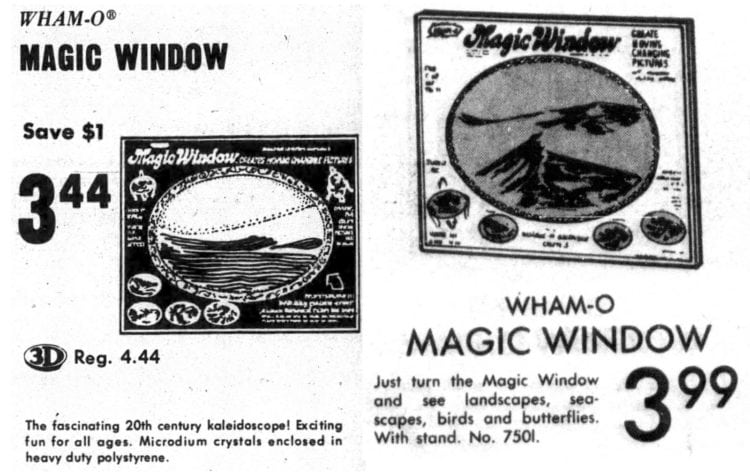 Vintage Magic Window toys for sale - newspaper ads