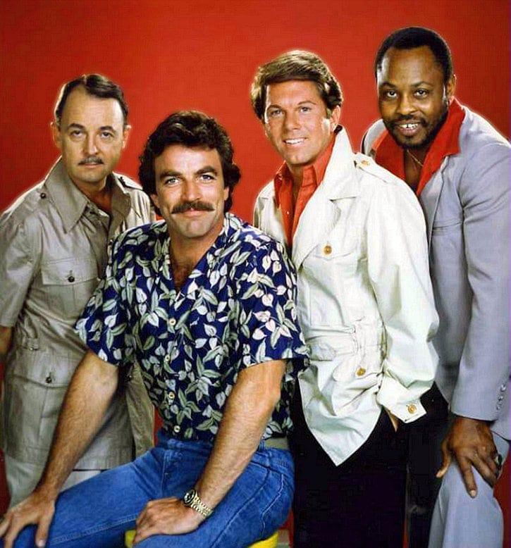 Vintage Magnum PI TV show stars