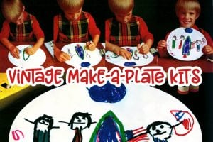 Vintage Make-A-Plate kits from the 1970s
