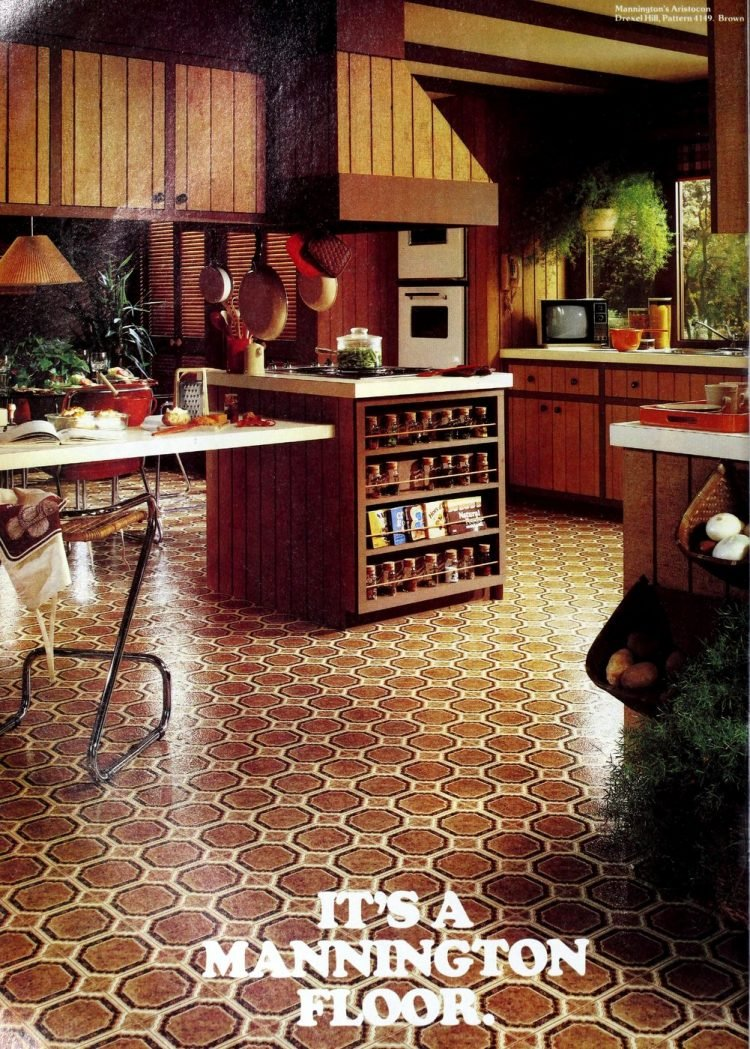 Vintage Mannington kitchen vinyl flooring from 70s and 80s - From ClickAmericana com (2)