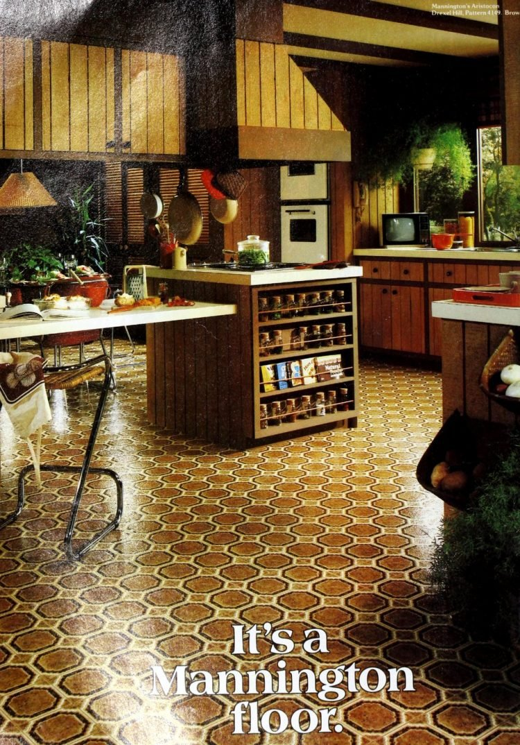 Vintage Mannington kitchen vinyl flooring from 70s and 80s - From ClickAmericana com (3)