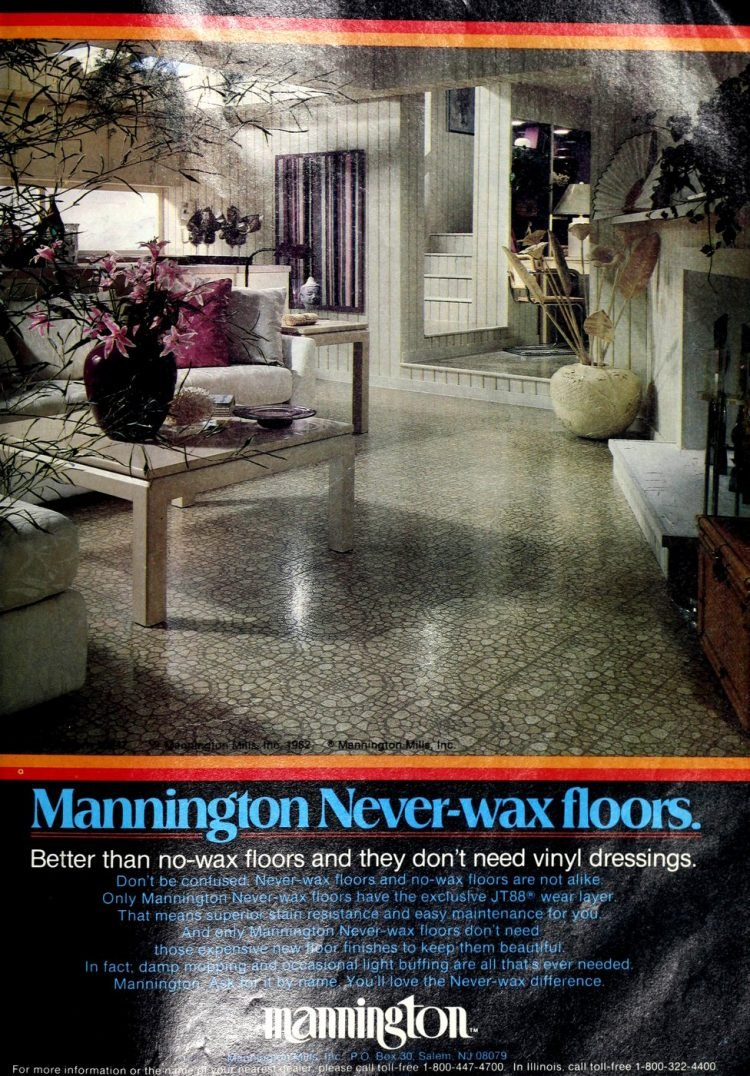 Vintage Mannington kitchen vinyl flooring from 70s and 80s - From ClickAmericana com (4)