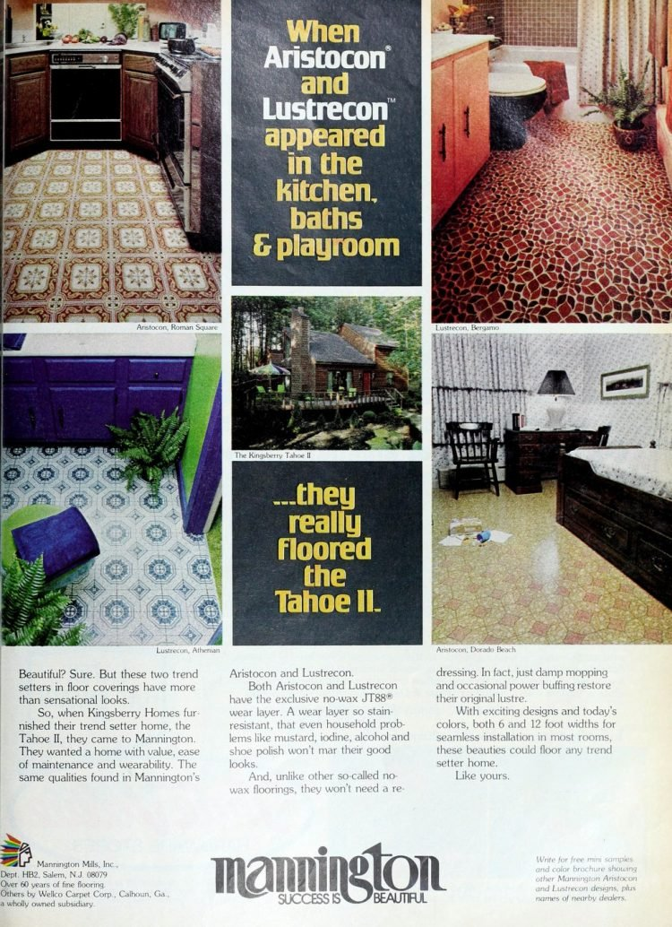 Vintage Mannington kitchen vinyl flooring from 70s and 80s - From ClickAmericana com (5)