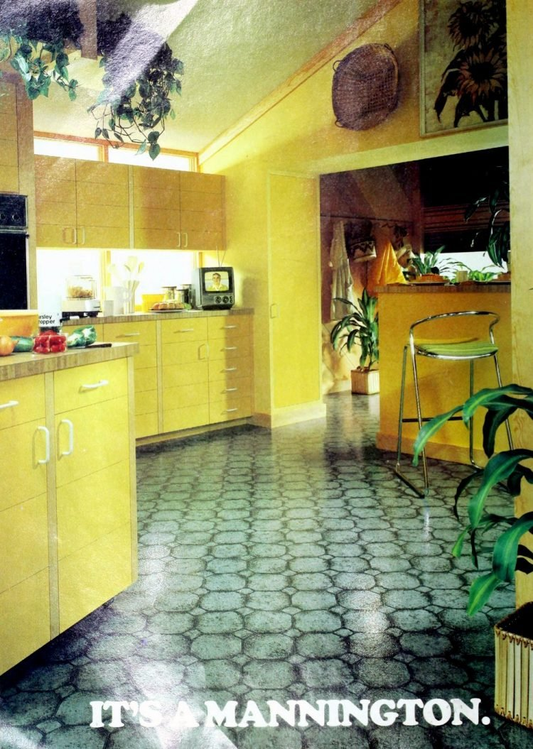Vintage Mannington kitchen vinyl flooring from 70s and 80s - From ClickAmericana com (8)