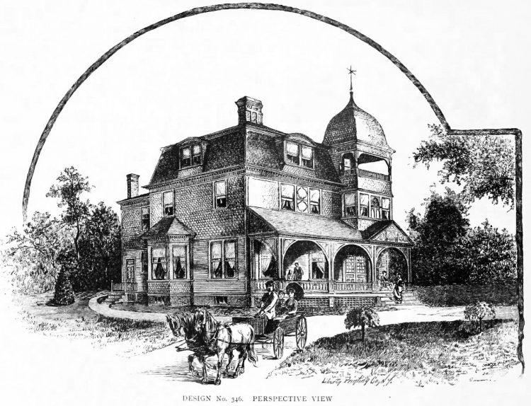 Vintage Mansard house architecture (1)