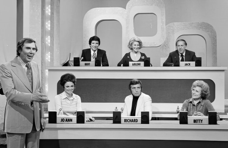 Vintage Match Game game show panel of celebrities
