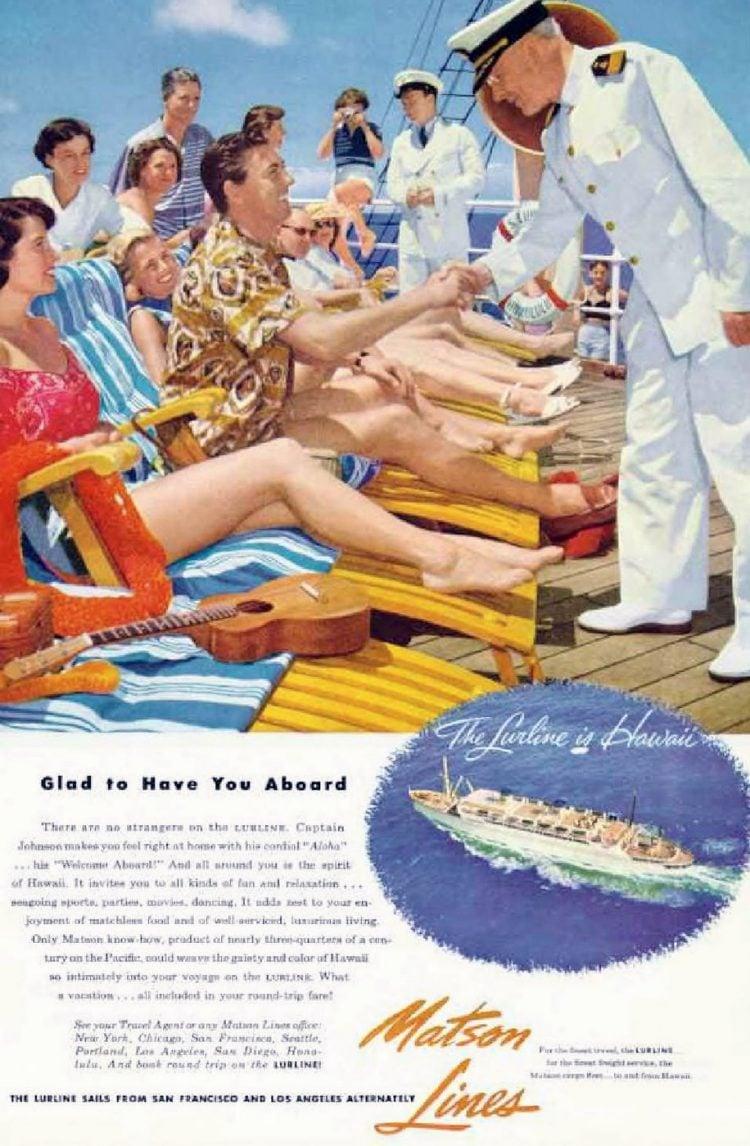 Vintage Matsom Lines cruise 1953