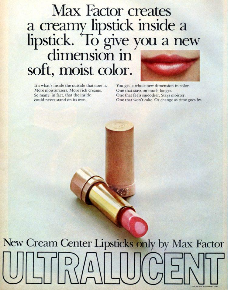 Vintage Max Factor lipstick - Ultralucent 1969