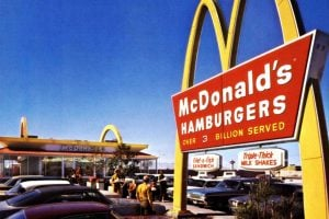 Vintage McDonald's - 5 decades of the famous fast food chain restaurant