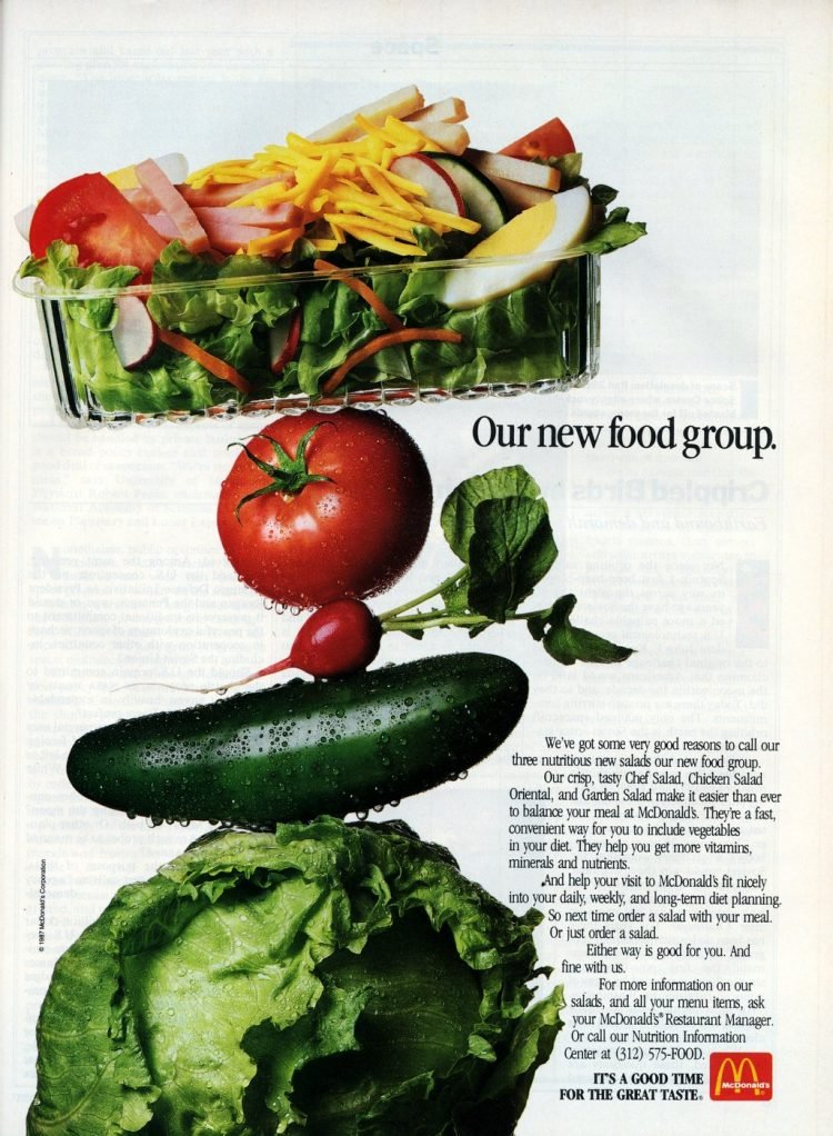 Vintage McDonald's salad ads from 1987 (1)