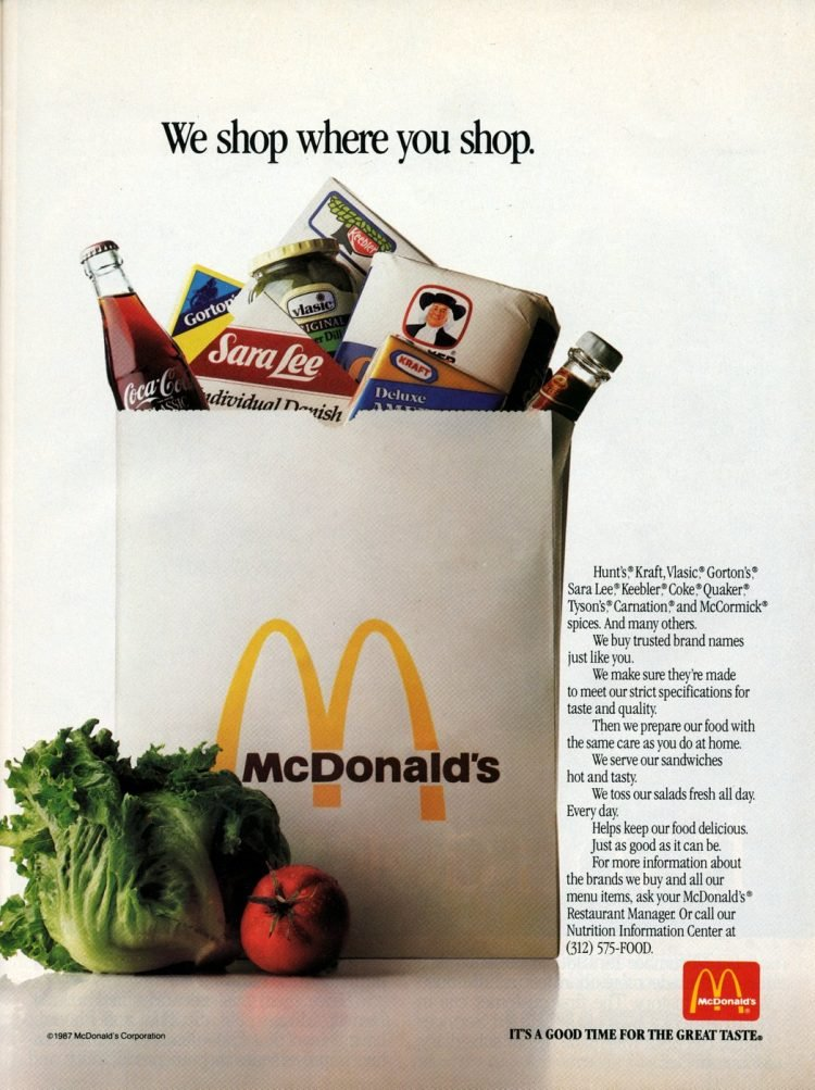 Vintage McDonald's salad ads from 1987 (2)