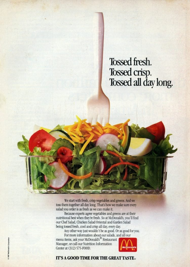 Vintage McDonald's salad ads from 1987 (3)