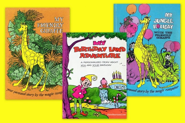 Vintage Me Books 1970s computer-personalized storybook at Click Americana