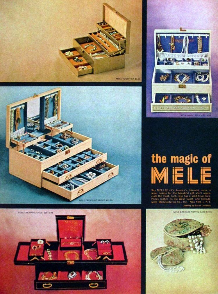 Vintage Mele music boxes - 1960s 1970s
