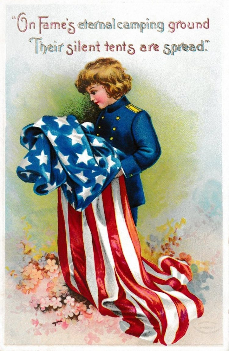 Vintage Memorial Day postcard from 1900s