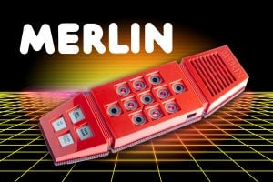 Vintage Merlin handheld gaming console from the 70s and 80s