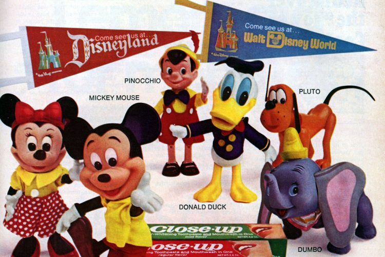 Vintage Mickey Mouse other Disney vinyl dolls you could get from Close-up toothpaste (1974)