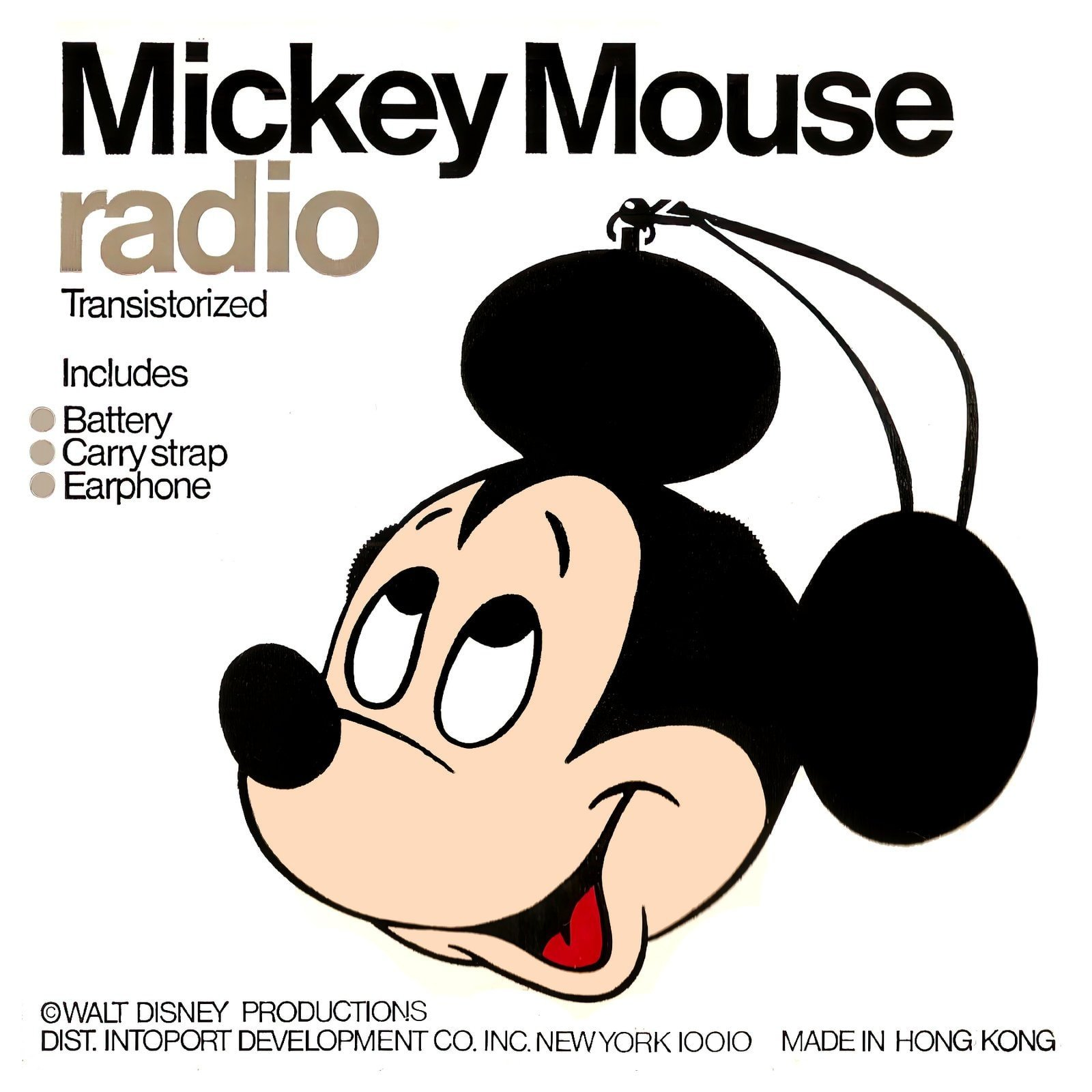 Vintage Mickey Mouse portable radio for kids