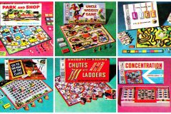Vintage Milton Bradley board games for family fun (1950s & 1960s)