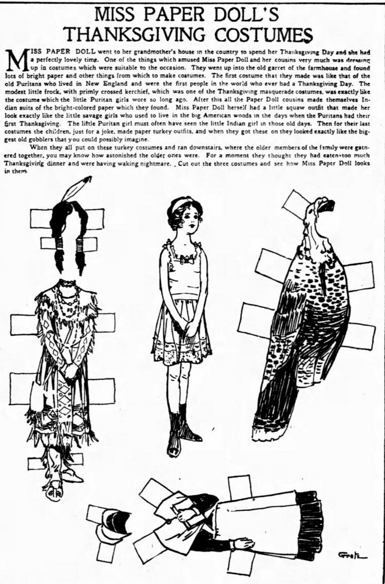 Vintage Miss Paper Doll outfits from 1911 (1)