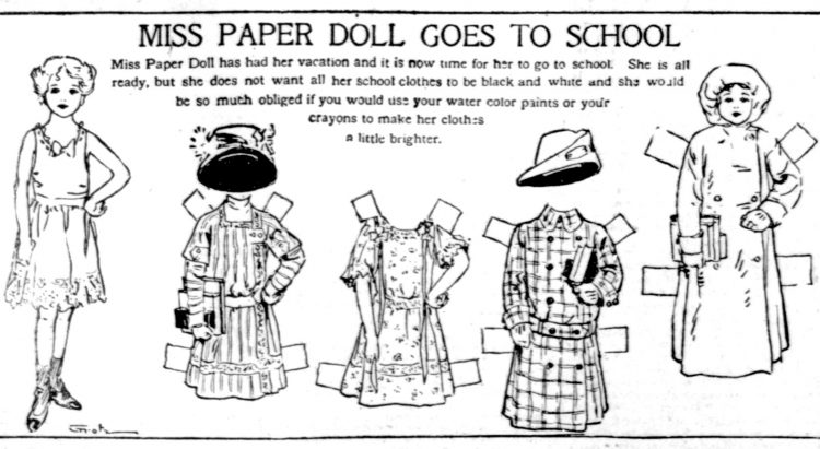 Vintage Miss Paper Doll outfits from 1911 (12)