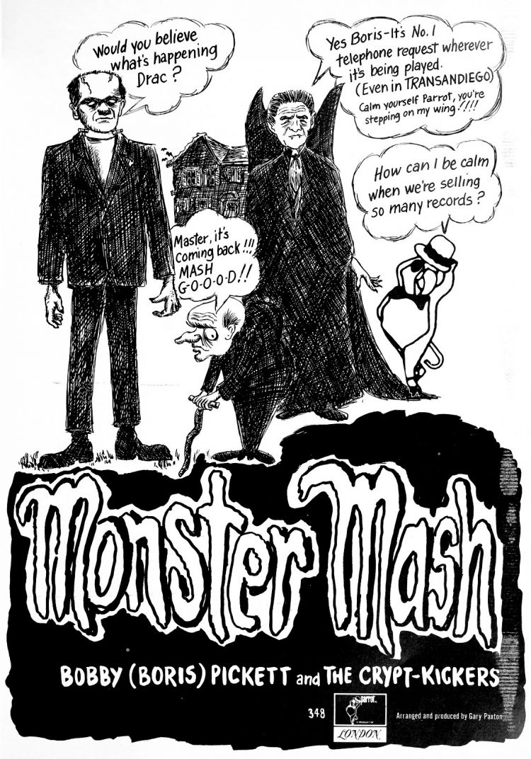 Vintage Monster Mash ad from 1960s