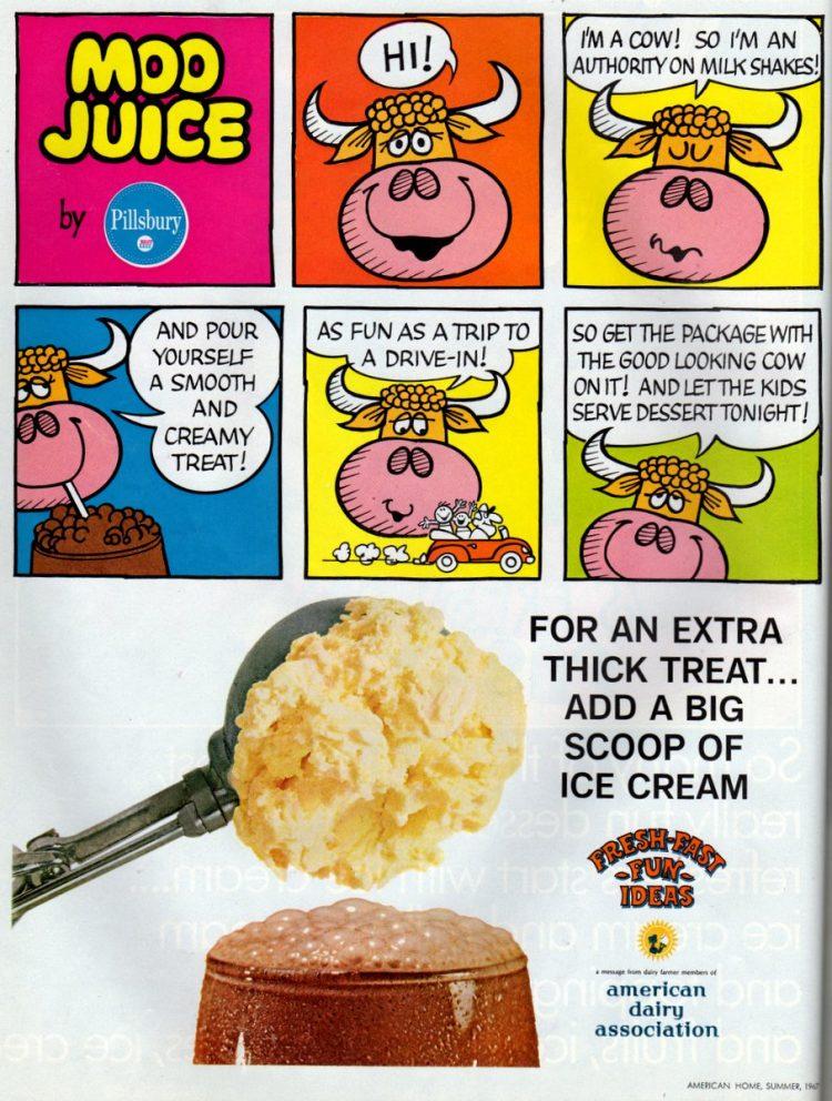 Vintage Moo Juice chocolate or strawberry milkshake mix from 1967 (1)