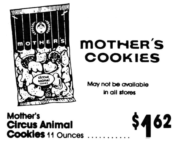 Vintage Mother's Cookies - Circus Animals (1989)