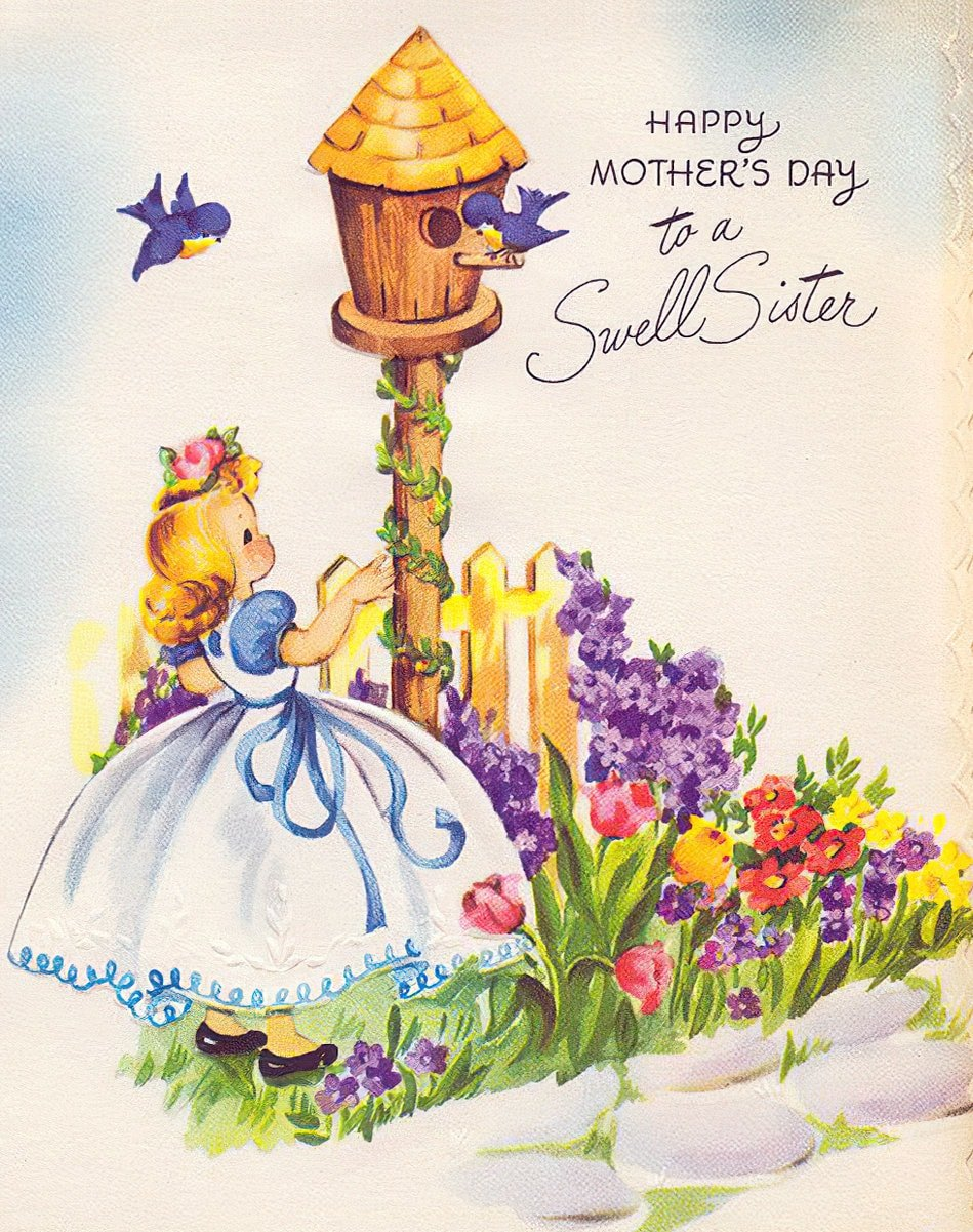 Vintage Mother's Day card - To a swell sister