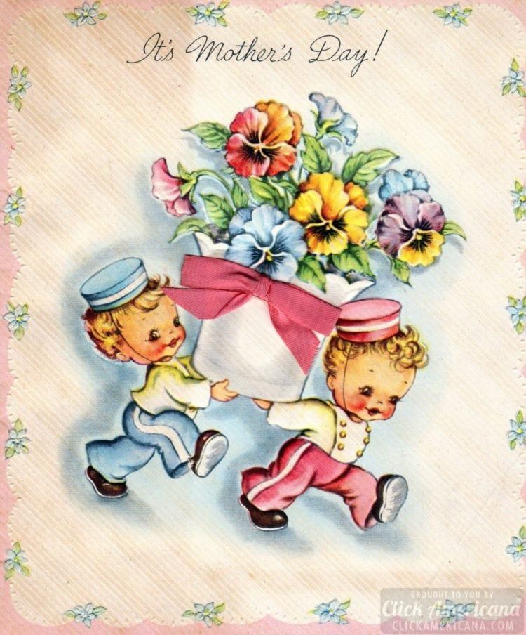 Vintage mother's day cards: It's Mother's Day! (1933)