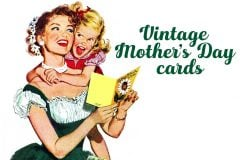 Vintage Mother's Day cards from 1950s