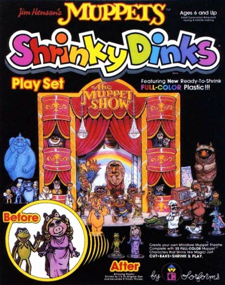 Vintage Muppets ShrinkyDinks Play set