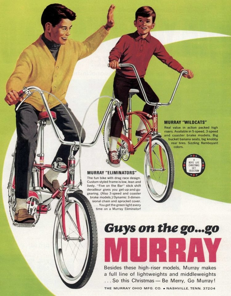 Vintage Murray Wildcats and Eliminators bicycles 1968