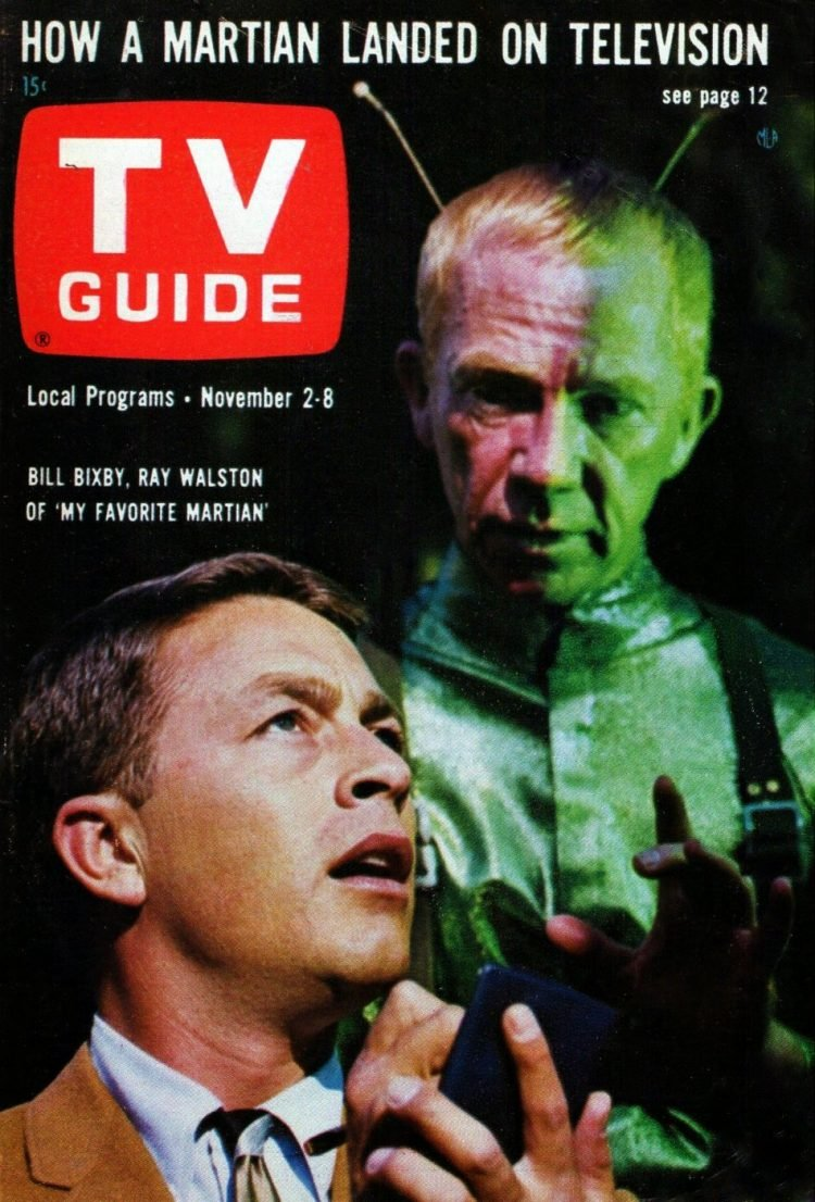 Vintage My Favorite Martian TV Guide cover with Bill Bixby and Ray Walston