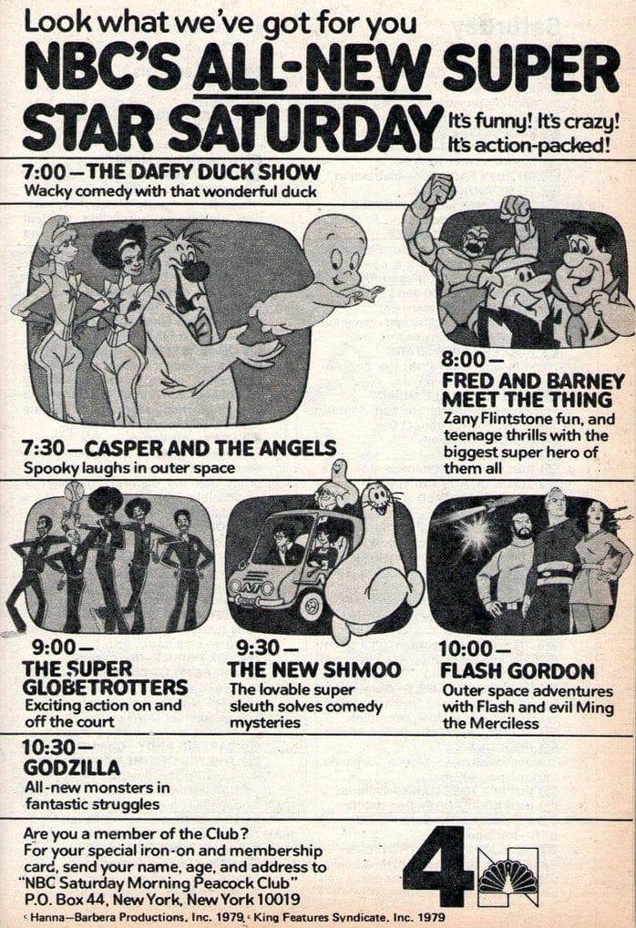 Vintage NBC Saturday morning cartoons from 1979