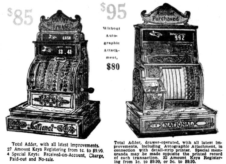 Vintage NCR cash registers from 1910 (2)
