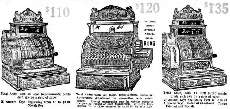 Vintage NCR cash registers from 1910 (3)