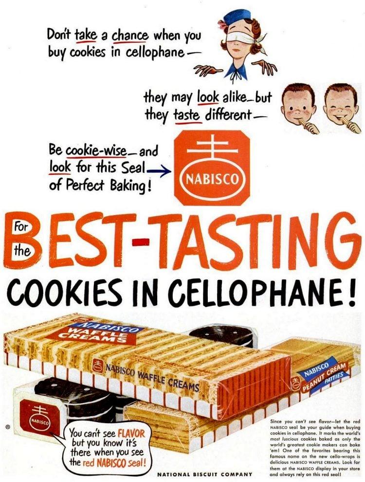 Vintage Nabisco Waffle Creams cookies (1950)