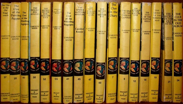 Vintage Nancy Drew books